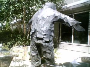 Statue inside BBC White City